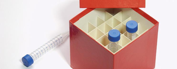 Boîtes de Cryo 148x148x128 mm +séparateur