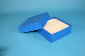 MIKE 50 Kryobox (Karton spezial) 10x10 Fächer, blau, Höhe 50 mm