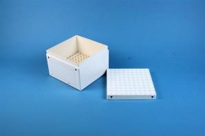 FOX 95 Kryobox (Karton spezial) 10x10 Fächer, weiß, Höhe 95 mm