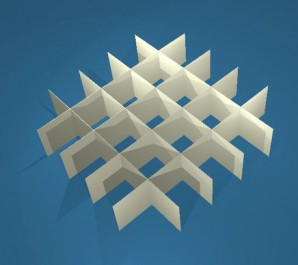 MIKE Rastereinsatz / 5x5 Fächer / Höhe 30 mm für Kryoboxen, Karton
