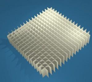 MIKE Rastereinsatz / 16x16 Fächer / Höhe 30 mm für Kryoboxen, Karton