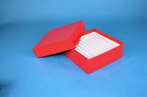 MIKE 50 Kryobox (Karton spezial) 10x10 Fächer, orange, Höhe 50 mm