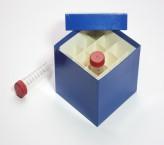 CellBox Maxi Cryo boîte (carton norme) / 4x4 grille, bleu, hauteur 128 mm