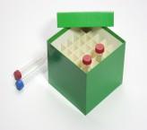 CellBox Maxi Cryo boîte (carton spécial) / 6x6 grille, vert, hauteur 128 mm