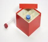CellBox Maxi Cryo boîte (carton norme) / 4x4 grille, rouge, hauteur 128 mm
