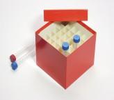 CellBox Maxi Cryo boîte (carton spécial) / 6x6 grille, rouge, hauteur 128 mm
