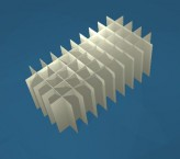 CellBox Rastereinsatz / 5x10 Fächer / Höhe 90 mm für Kryoboxen, Karton