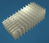 CellBox Rastereinsatz / 8x12 Fächer / Höhe 90 mm für Kryoboxen, Karton