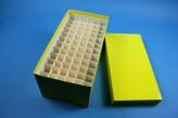 CellBox Maxi lang Kryobox (Karton standard) 6x12 Fächer, gelb, Höhe 128 mm