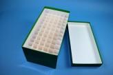 Cell Kryobox Maxi lang / 6x12 Fächer, grün, Höhe 128 mm
