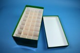CellBox Maxi lang Kryobox (Karton standard) 4x8 Fächer, grün, Höhe 128 mm