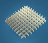 MIKE Rastereinsatz / 10x10 Fächer / Höhe 15 mm für Kryoboxen, Karton
