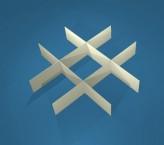 MIKE Rastereinsatz / 3x3 Fächer / Höhe 25 mm für Kryoboxen, Karton