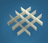 MIKE Rastereinsatz / 4x4 Fächer / Höhe 25 mm für Kryoboxen, Karton