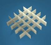 MIKE Rastereinsatz / 5x5 Fächer / Höhe 25 mm für Kryoboxen, Karton