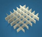 MIKE Rastereinsatz / 6x6 Fächer / Höhe 25 mm für Kryoboxen, Karton