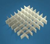 MIKE Rastereinsatz / 7x7 Fächer / Höhe 25 mm für Kryoboxen, Karton