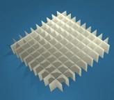 MIKE Rastereinsatz / 10x10 Fächer / Höhe 25 mm für Kryoboxen, Karton