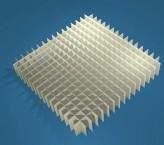 MIKE Rastereinsatz / 16x16 Fächer / Höhe 25 mm für Kryoboxen, Karton