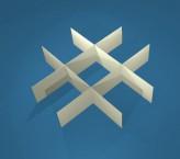 MIKE Rastereinsatz / 3x3 Fächer / Höhe 30 mm für Kryoboxen, Karton
