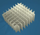 MIKE Rastereinsatz / 8x8 Fächer / Höhe 65 mm für Kryoboxen, Karton