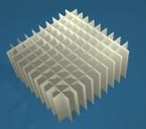MIKE Rastereinsatz / 10x10 Fächer / Höhe 65 mm für Kryoboxen, Karton