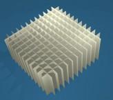 MIKE Rastereinsatz / 12x12 Fächer / Höhe 65 mm für Kryoboxen, Karton