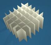 MIKE Rastereinsatz / 6x6 Fächer / Höhe 80 mm für Kryoboxen, Karton