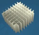 MIKE Rastereinsatz / 8x8 Fächer / Höhe 80 mm für Kryoboxen, Karton