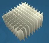 MIKE Rastereinsatz / 9x9 Fächer / Höhe 80 mm für Kryoboxen, Karton